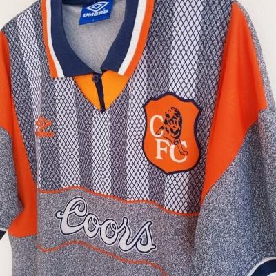 "Chelsea FC Away Shirt 1994-1996 (L) ""Very Good"""