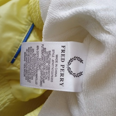 """Fred Perry Track Top Jacket Yellow (36 Womens) """"Very Good"""""""
