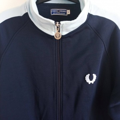 "Fred Perry Jacket Track Top Blue (L) ""Good"""