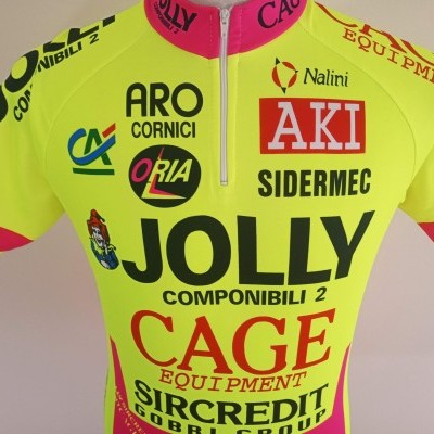 "Jolly Cage Cycling Shirt 1994 Monaco (XL) ""Very Good"""