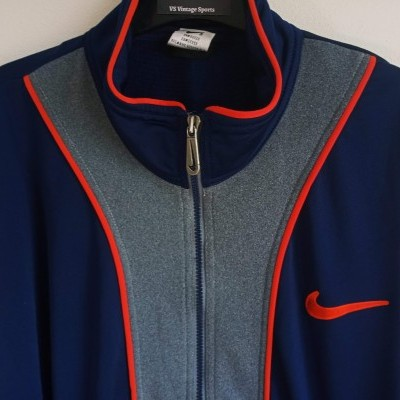 "Vintage Track Top Jacket Nike Blue Grey (L) ""Very Good"""