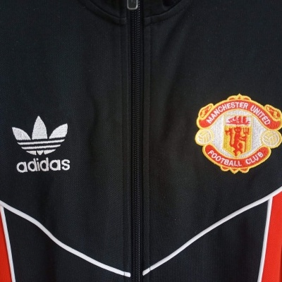 "Manchester United Track Top Jacket 1983-1984 (XS) ""Good"""