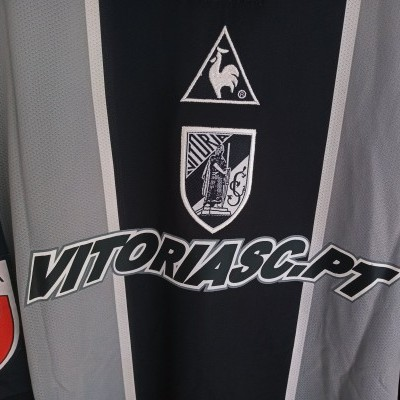 "Matchworn Vitoria Guimarães Away Shirt 2001 #50 Cleber (XXL) ""Very Good"""