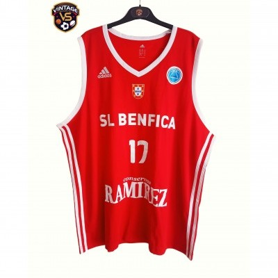 "SL Benfica Basketball Shirt 2015-2016 #17 (2XL) ""Very Good"""