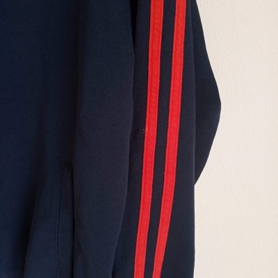"""Fred Perry Track Top Jacket Black Red (S) """"Very Good"""""""