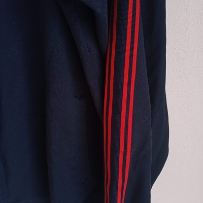"""Fred Perry Track Top Jacket Black Red (XL) """"Very Good"""""""