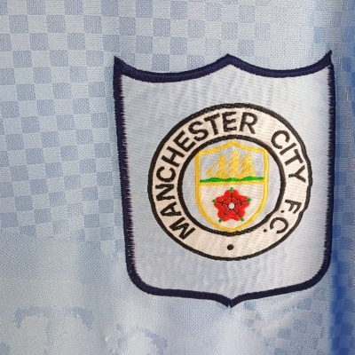 """Manchester City Home Shirt 1995-1997 (XL) """"Good"""""""
