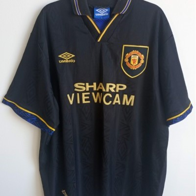 "Manchester United Away Shirt 1993-1995 #7 Cantona (XL) ""Good Condition"""
