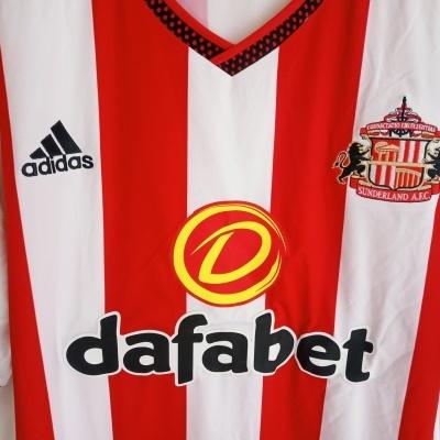"Sunderland AFC Home Shirt 2015-2016 (XXL) ""Very Good"""