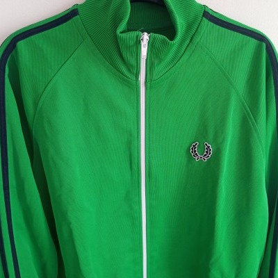 "Fred Perry Jacket Track Top Green Black (M) ""Very Good"""