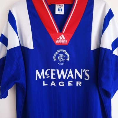"Glasgow Rangers FC Home Shirt 1992-1994 (L) ""Perfect"""