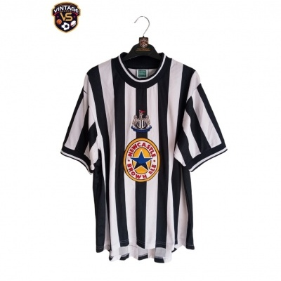 """Official Retro Newcastle United Home Shirt 1997-1999 (L) """"Very Good"""""""
