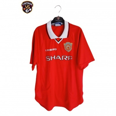 "Manchester United Home Shirt 1997-2000 1 Star (L) ""Very Good"""