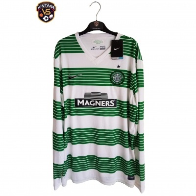 NEW Celtic Glasgow FC Home Shirt L/S 2013-2015 (XL)