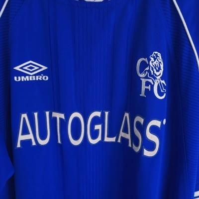 "Chelsea FC Home Shirt 1999-2001 (XL) ""Very Good"""