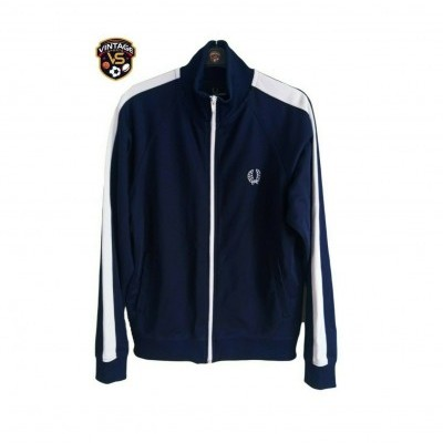 "Fred Perry Jacket Track Top Blue White (M Youths) ""Very Good"""