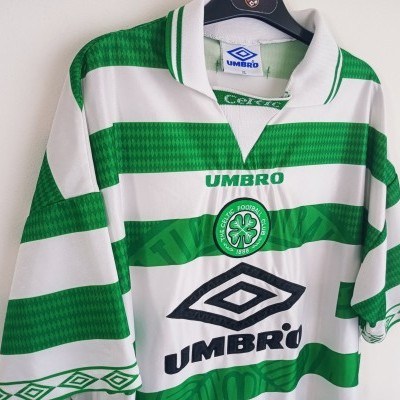 "Celtic Glasgow FC Home Shirt 1997-1999 (XL) ""Good"""