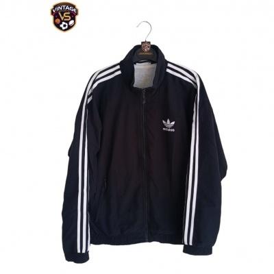 "Vintage Track Top Jacket Adidas Black White (S) ""Very Good"""