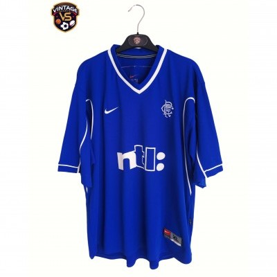 "Glasgow Rangers FC Home Shirt 1999-2001 (XL) ""Very Good"""