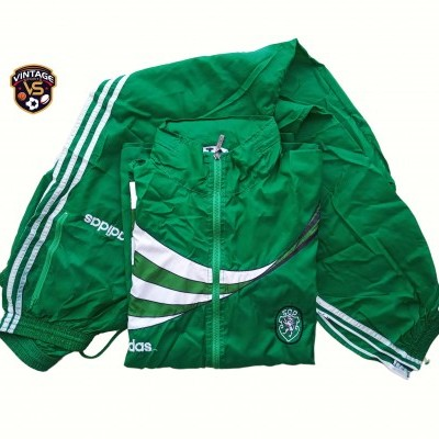 "Sporting CP Football Rain Tracksuit Issue 1995-1996 (L) ""Good"""