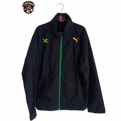 "Jamaica Windbreaker Rain Jacket Athletics (L) ""Very Good"""