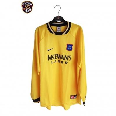 "Glasgow Rangers FC Goalkeeper Shirt 1997-1998 (L) ""Very Good"""