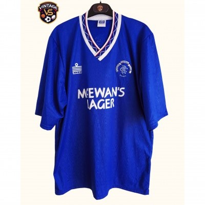 "Glasgow Rangers FC Home Shirt 1990-1992 (L) ""Perfect"""