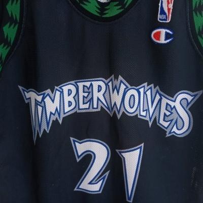 """Minnesota Timberwolves NBA Jersey #21 Garnett (M Youths) """"Good"""""""