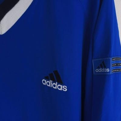 "Vintage Adidas Logo Line Sweatshirt Windbreaker Blue (S) ""Very Good"""