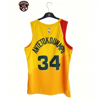 "Milwaukee Bucks NBA City Edition Shirt #34 Antetokounmpo (44) ""Perfect"""