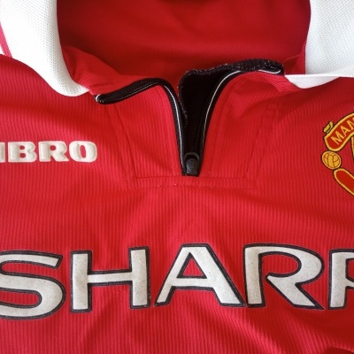 "Manchester United Home Shirt 1998-1999 (M) ""Very Good"""