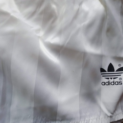 "Vintage Shorts Adidas 1990s White Red (S) ""Very Good"""