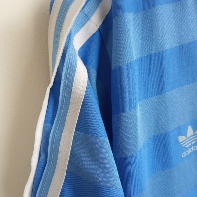 "Vintage Adidas Football Shirt Blue Schalke Bochum (M) ""Good"""