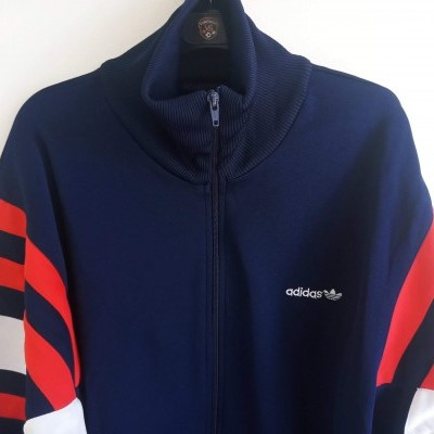 "Vintage Track Top Jacket Adidas Blue Red White (XL) ""Very Good"""