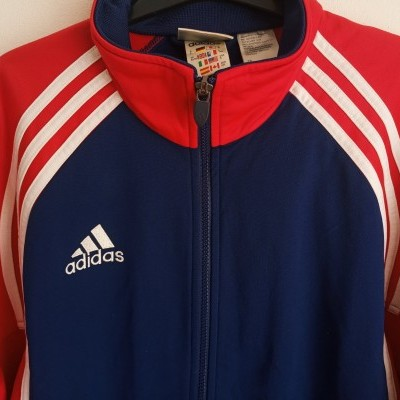 "Vintage Track Top Jacket Adidas Blue Red (S) ""Very Good"""