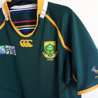 "South Africa Rugby Home Shirt 2011 (M) ""Very Good"""