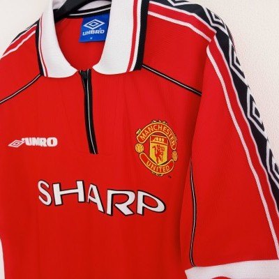 """Manchester United Home Shirt 1998-1999 (M) """"Very Good"""""""