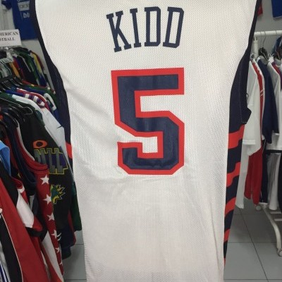 USA Basketball Away Shirt Jersey (S) #5 Kidd