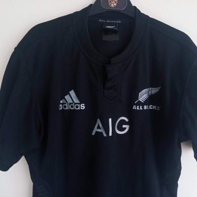 """New Zealand All Blacks Rugby Home Shirt 2014 (M) """"Good"""""""