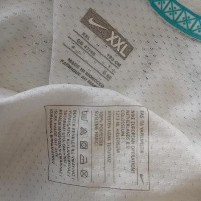 "Matchworn Issue Turkey Away Shirt 2008 #8 (XXL) ""Very Good"""