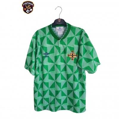 "Northern Ireland Home Shirt 1990-1992 (M) ""Very Good"""