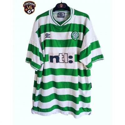 "Celtic Glasgow FC Home Shirt 1999-2000 (XXL) ""Average"""