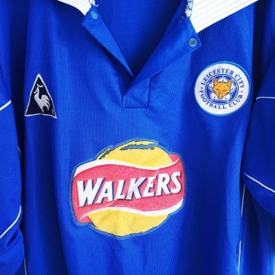 "Leicester City FC Home Shirt 2000-2001 (L) ""Good"""
