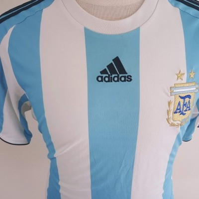 "Argentina Home Shirt 2007-2009 (M) ""Very Good"""