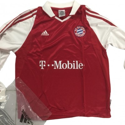 NEW Bayern Munich Home Long Sleeve Shirt 2003-2004 (M Youths)