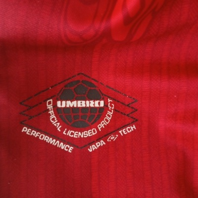 """Manchester United Home Shirt 1996-1998 (L) """"Very Good"""""""