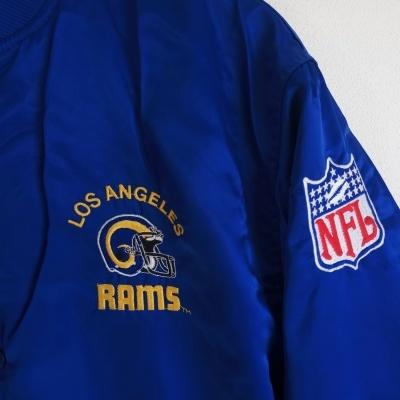 "Los Angeles Rams NFL Bomber Satin Jacket 1990s (34) ""Very Good"""