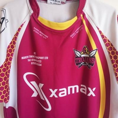 "Matchworn Thornhill Trojans Rugby League Shirt #3 (L) ""Very Good"""