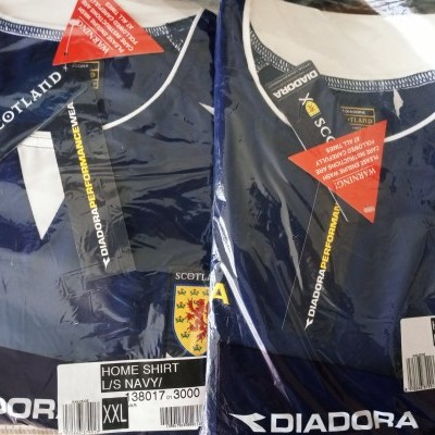 NEW Scotland Long Sleeve Home Shirt 2003-2005 (XXL)