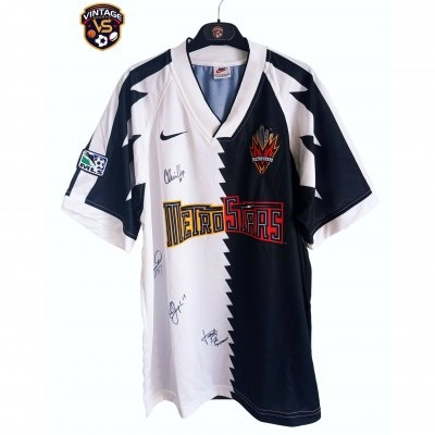 "Signed New York Metrostars Away Issue Shirt 1996 (L) ""Very Good"""